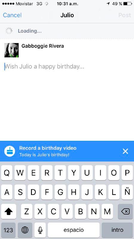 Blog Movistar - Facebook cumpleaños