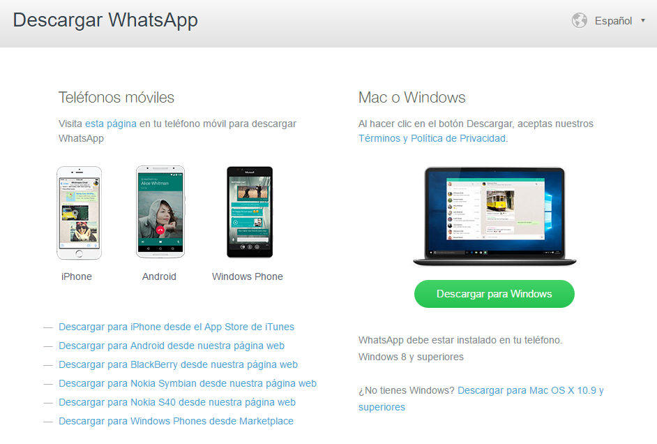 Blog Movistar - Whatsapp Web App